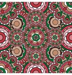 Mandala pattern seamless background vector image