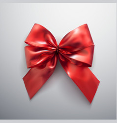 red bow and ribbons vector image vector image