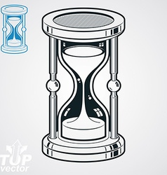 Retro dimensional sand-glass simple additio vector image vector image