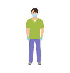 anesthetist medical specialist vector image