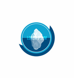 iceberg above and under water conceptual logo vector image