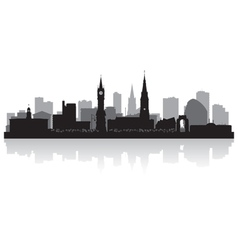 Leicester city skyline silhouette vector image vector image