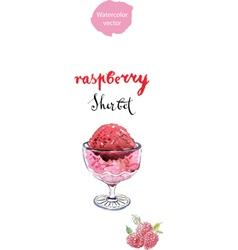 raspberry sherbet vector image vector image