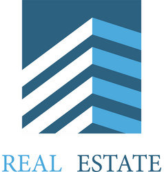 real estate architecture icon vector image