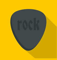 rock stone icon flat style vector image vector image