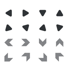 Arrow icon set 5 simple vector