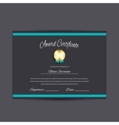 Award certificate vector