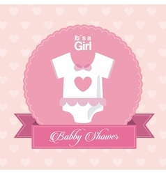 Baby Shower design cloth icon pink vector image