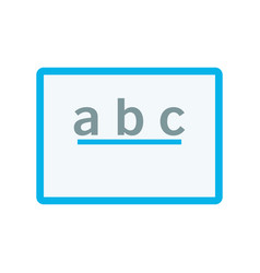 board with alphabet or abc icon learning concept vector image