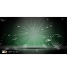Bubbles splash dazzling effect background 3d vector