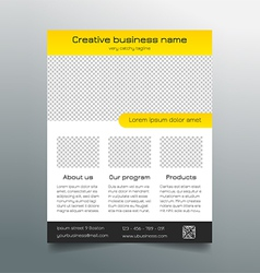 Business flyer template - modern sleek design vector