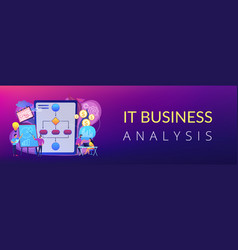 business process management concept banner header vector image