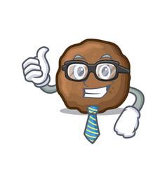 Businessman meatball character cartoon style vector