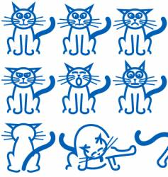 cat expressions vector image