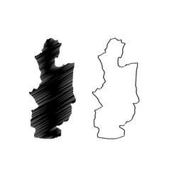 Central province sri lanka administrative vector