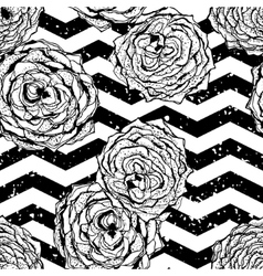 chevron seamless hand drawn pattern background vector image