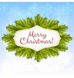 Christmas blue shiny background vector image