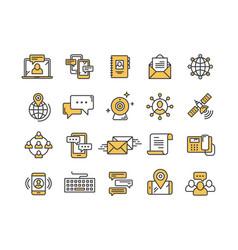 Communication social media online chatting vector