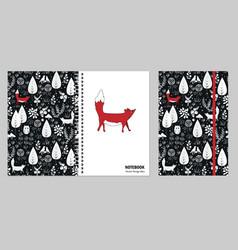Cover design for notebooks or scrapbooks vector