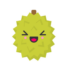 cute smiling exotic durian isolated colorful vector image