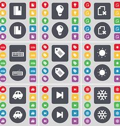Dictionary Light bulb File Keyboard Tag Light Car vector image