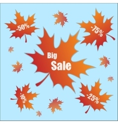 Discount with leaves vector