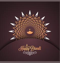 Diwali vintage card design background vector