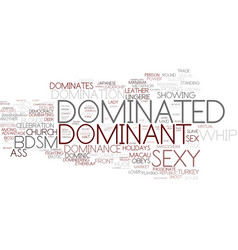 Dominated word cloud concept vector