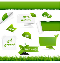 Ecology green set vector