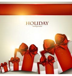 Elegant christmas gifts background vector