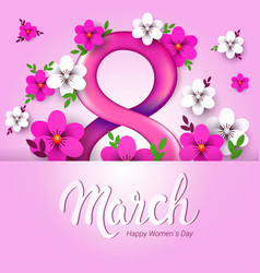 Elegant eight number womens day 8 march holiday vector