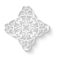 Elegant paper retro floral wreath Hand drawn vector image