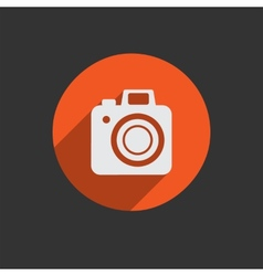Element for web design photo camera vector image