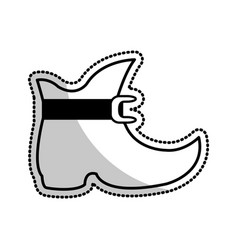 elf like boot cartoon icon image vector image