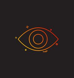 eye icon design vector image