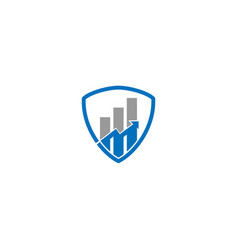 Finance shield and accounting logo design template vector