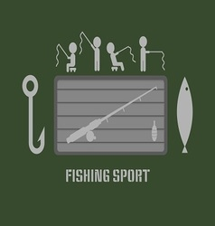 Fishing Club Badge vector