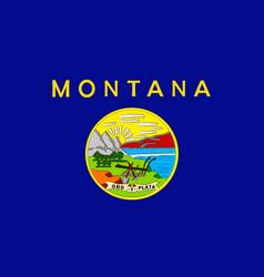 flag of montana usa vector image