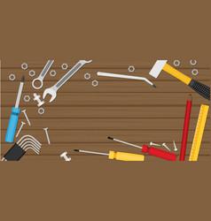 flat repair icon set mechanic service concept vector image