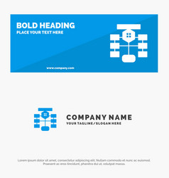 Flowchart flow chart data database solid icon vector