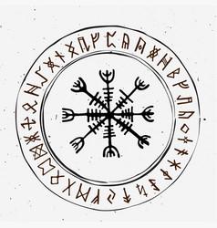 futhark norse islandic and viking runes set magic vector image