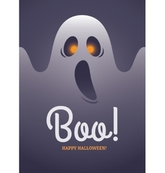 ghost poster vector image