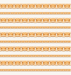 gold chain lines luxury seamless pattern vector image