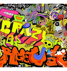 Graffiti wall art background vector image