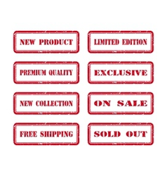 Grunge Rubber Stamp Set For A Shop vector image