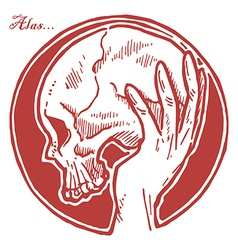 Hand Holding Skull vector