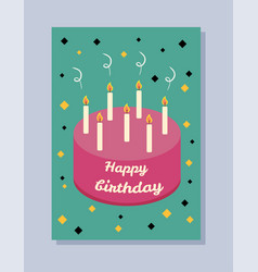 Happy birthday greeting-card vector