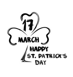 happy st patricks day march 17 saint patricks vector image