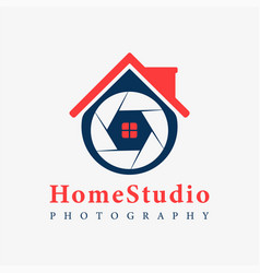 house photography logo template support icon vector image