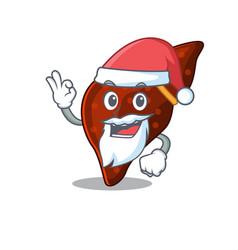 Human cirrhosis liver santa cartoon character vector